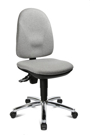 Topstar Bürostuhl Point 30 deluxe mit Bandscheibensitz, Bezug in Filzoptik und Stahlfußkreuz verchromt