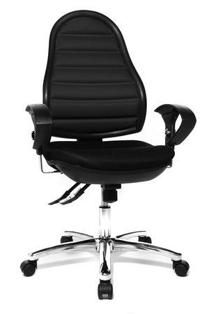 Topstar Bürostuhl Flex Point SY deluxe schwarz mit höhenverstellbaren Armlehnen